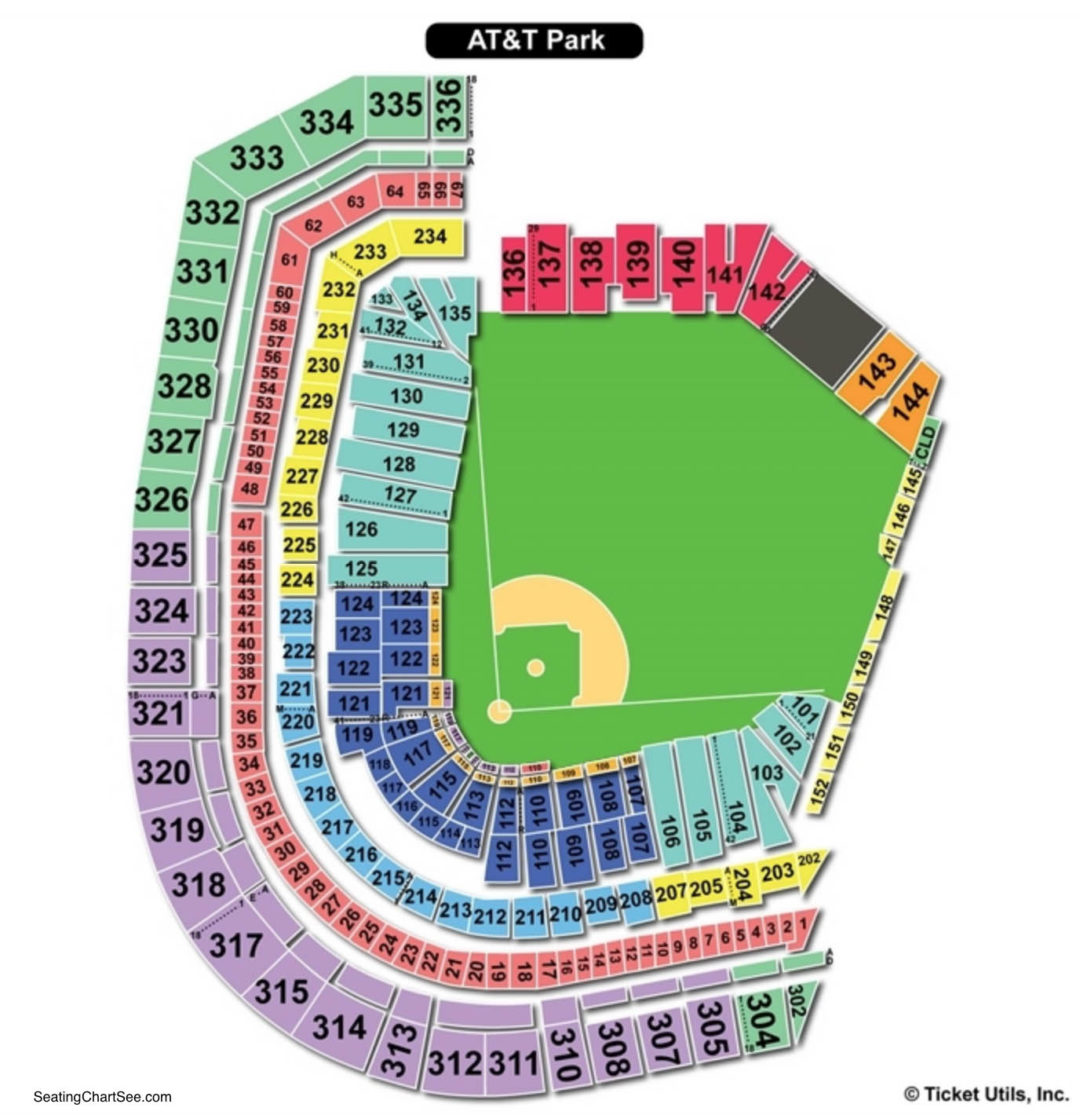 At T Park Baseball Seating Chart