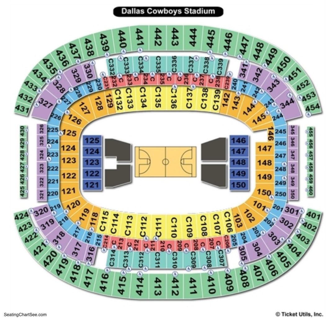 AT&T Stadium Seating Chart | Seating Charts & Tickets