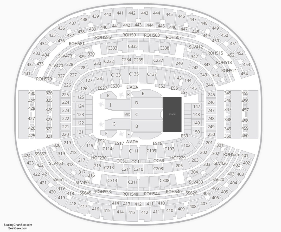 At Amp T Stadium Seating Chart Seating Charts Amp Tickets