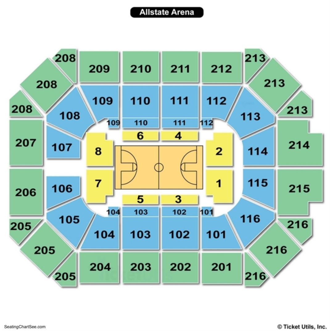 Allstate Arena Floor Plan: Allstate Arena Interactive Seat Map