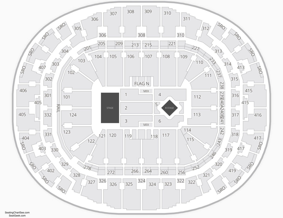 American Airlines Arena Seating Chart Seating Charts