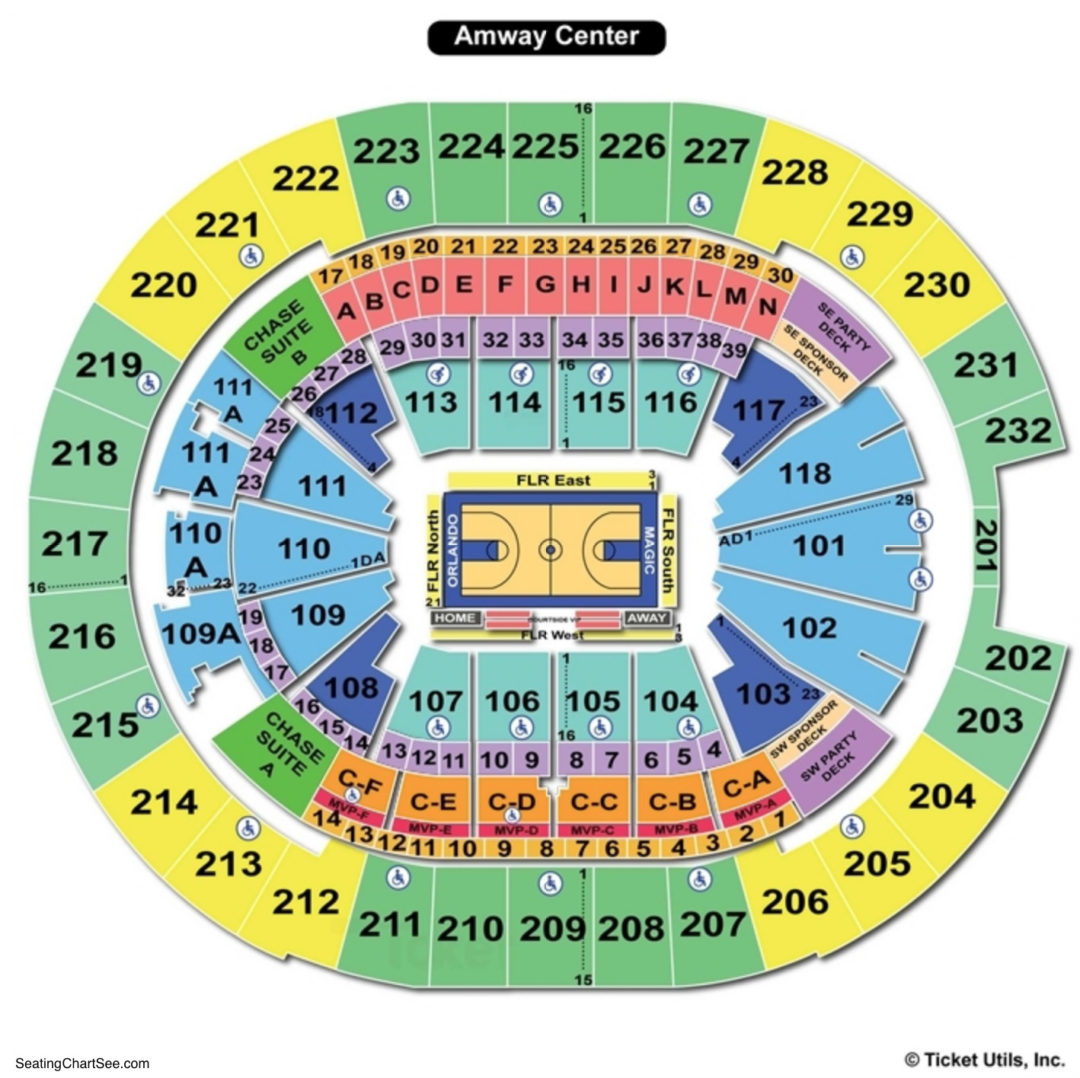 amway center seating map | Brokeasshome.com