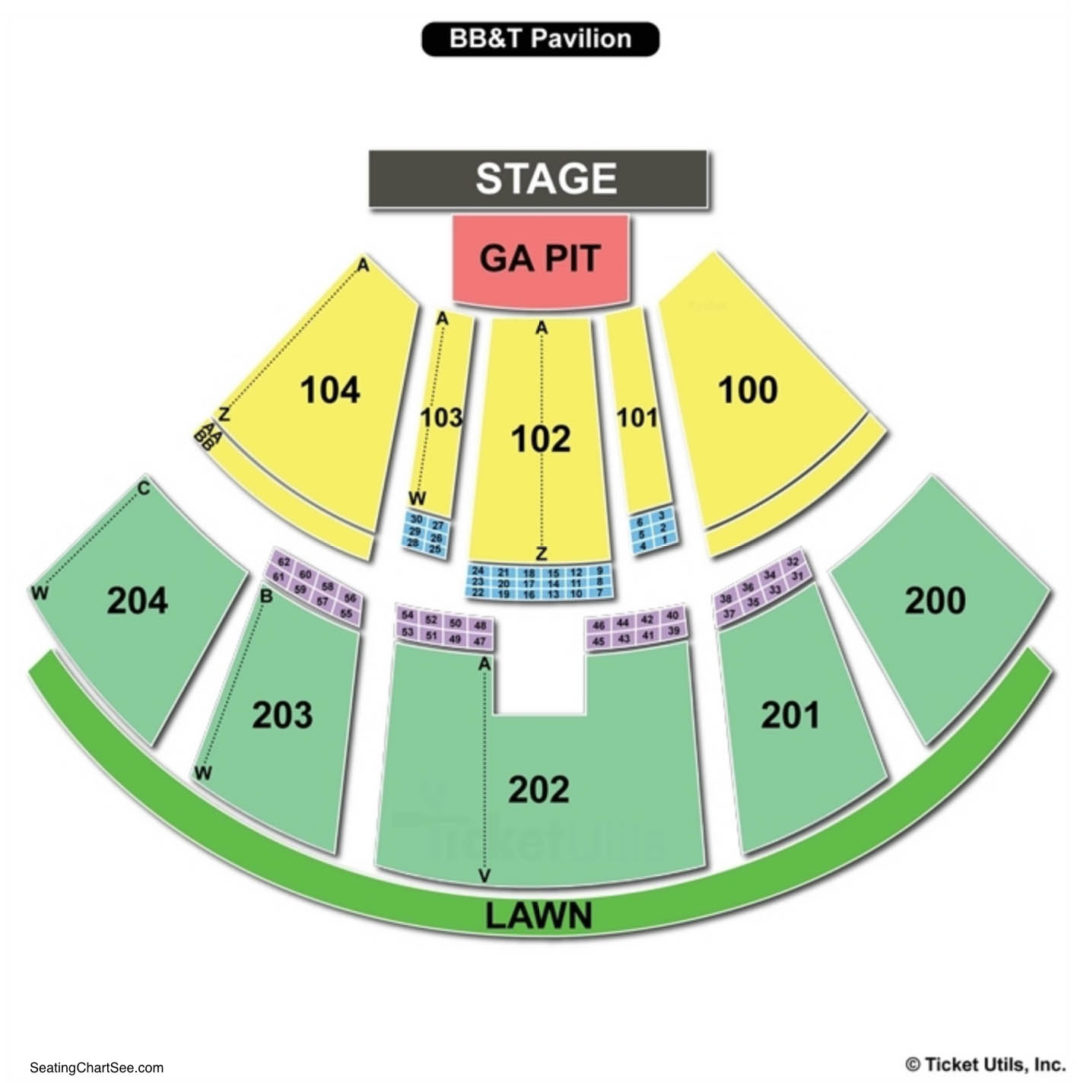 Bb t pavilion seating chart seating charts tickets