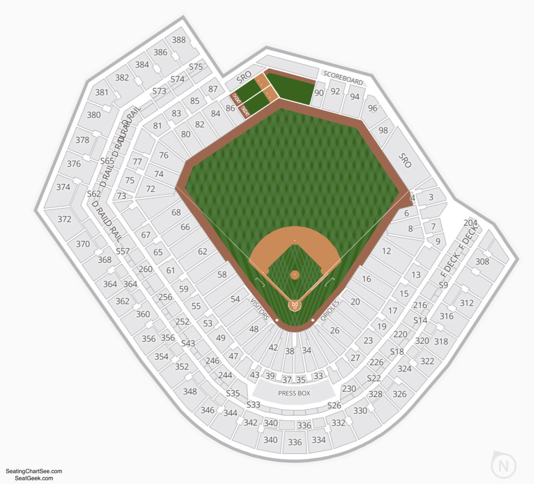 Oriole Park At Camden Yards Seating Chart Seating Charts