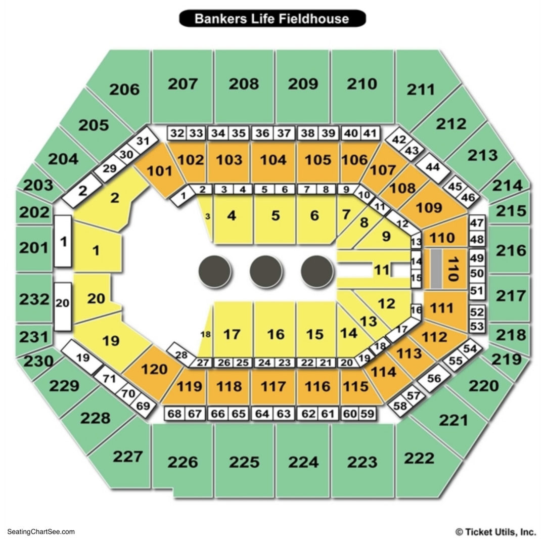 Bankers life fieldhouse seating chart seating charts tickets