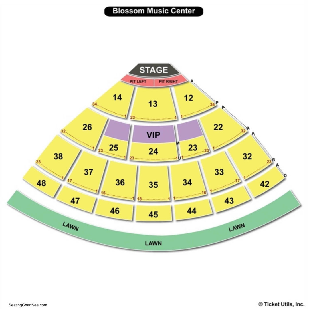 Blossom Music Center Seating Chart Seating Charts Tickets