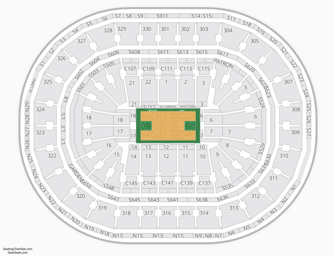 Celtics seating chart cabinets matttroy for Td garden celtics seating chart