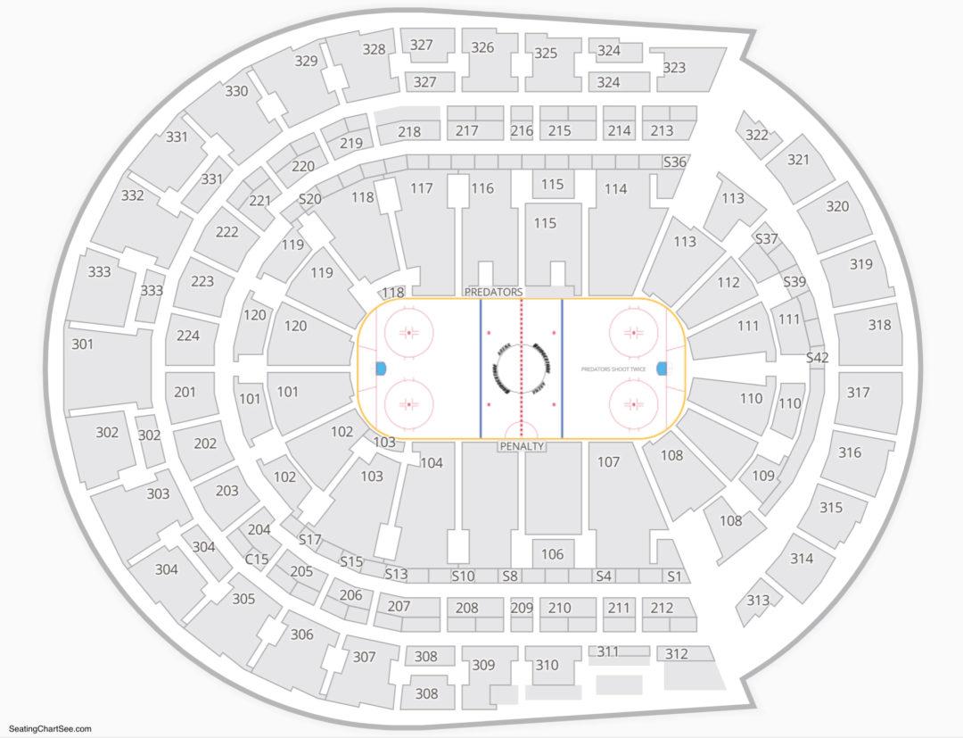 Bridgestone arena seating chart seating charts tickets