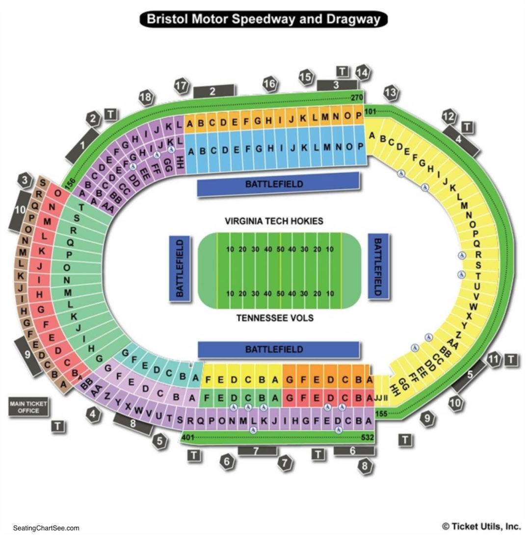 Bristol motor speedway seating chart seating charts tickets