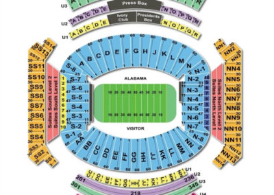 Bryant Denny Stadium Seating Chart Seating Charts Tickets