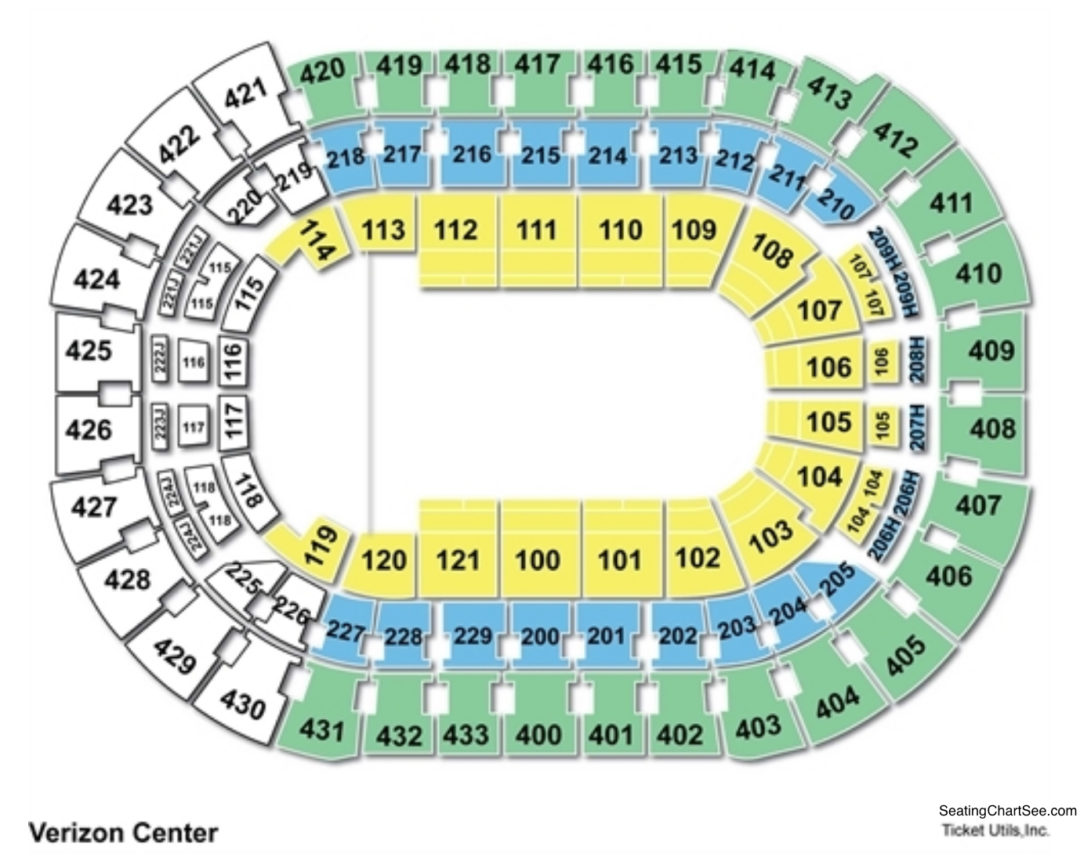 Capital One Arena Seating Chart Seating Charts Tickets