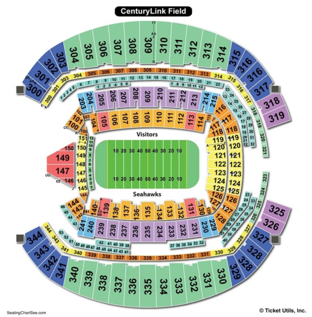 Centurylink Field Football Seating Chart