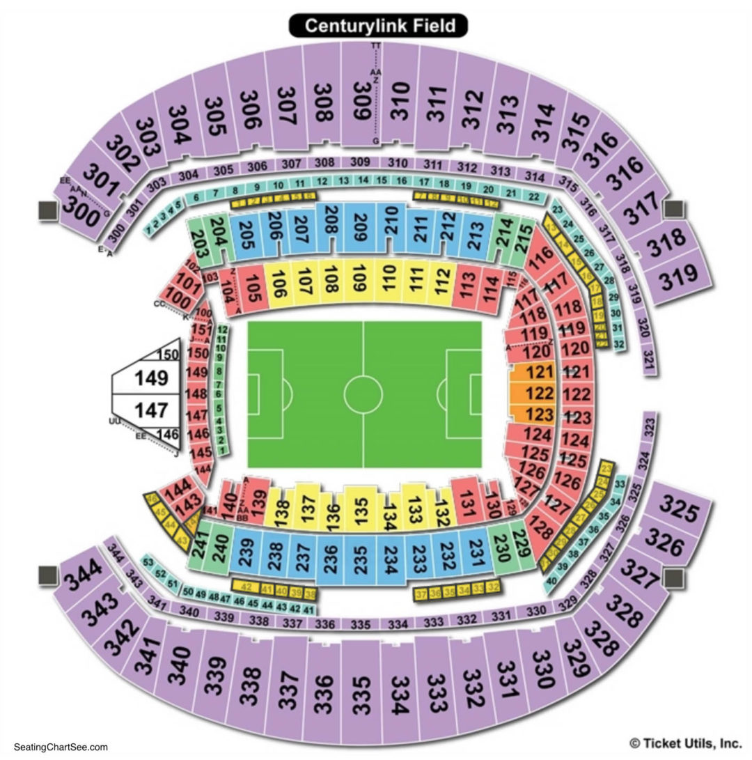 Centurylink field seating chart seating charts tickets