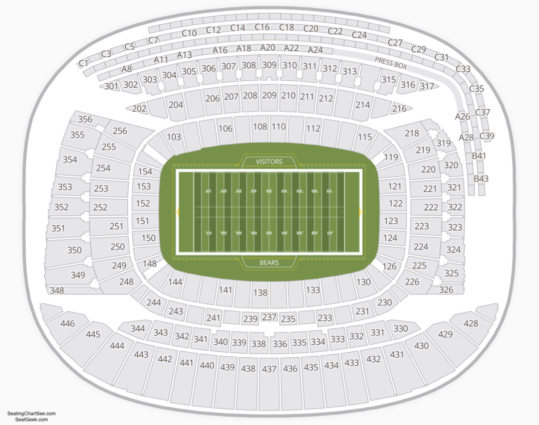 Soldier Field Seating Chart Seating Charts Tickets