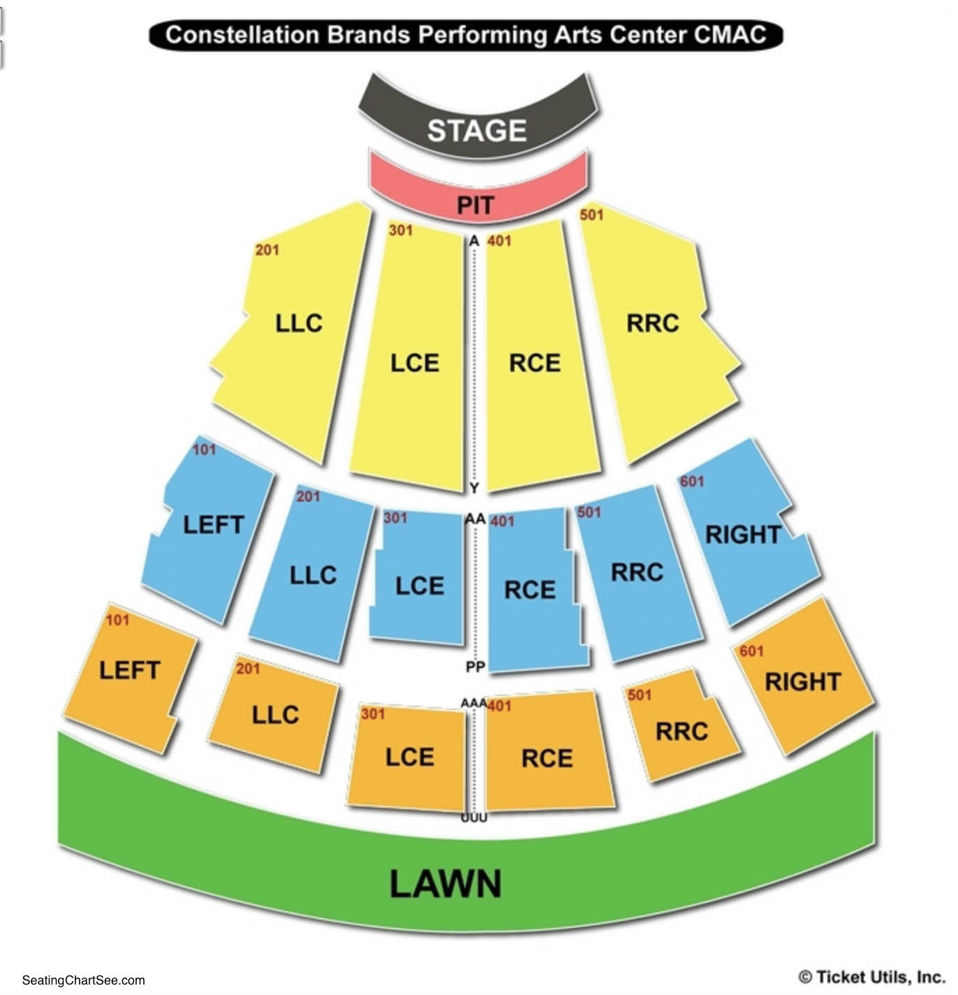 Performing Arts: Constellation Brands Performing Arts Center Seating Chart