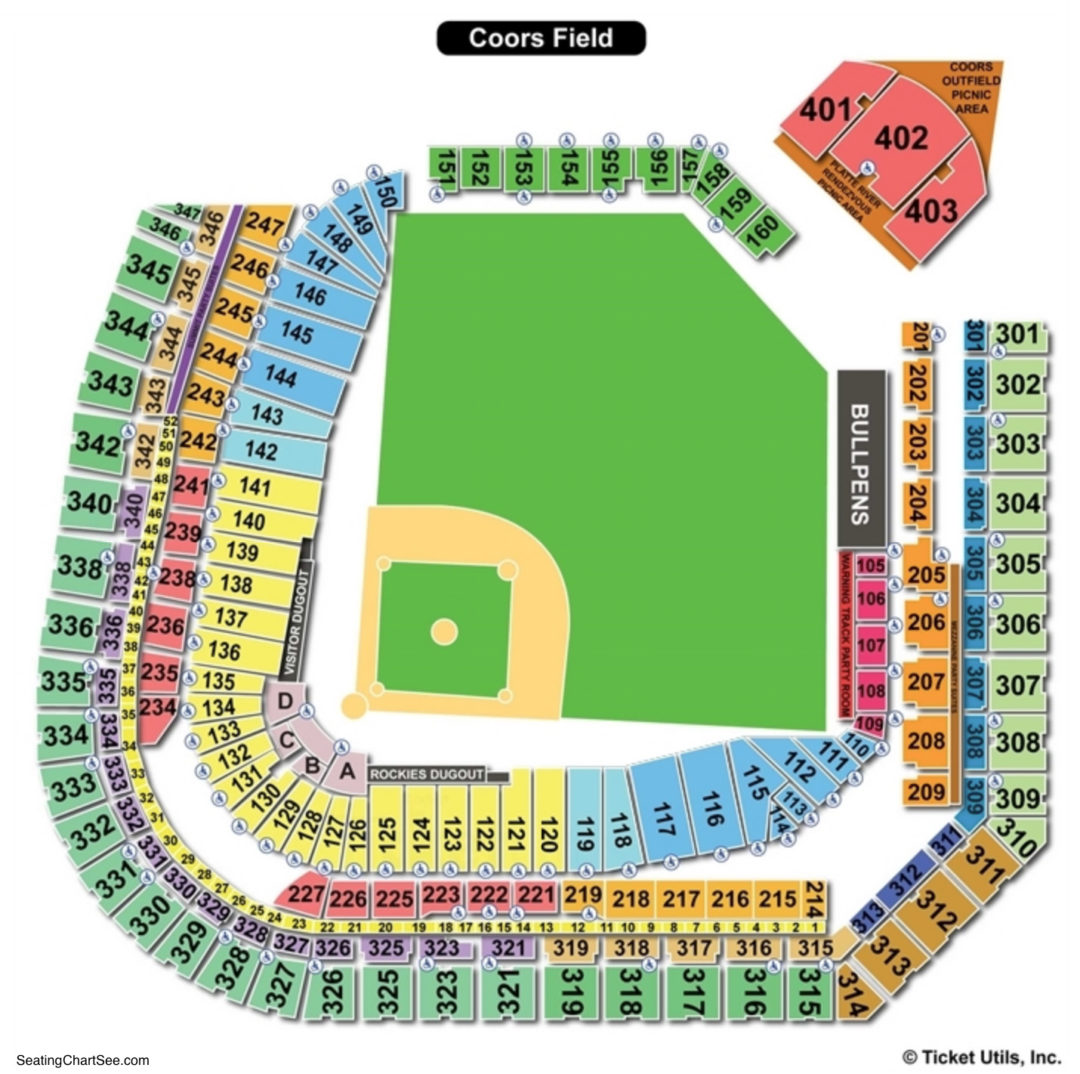 Coors Field Seating Chart Seating Charts Tickets