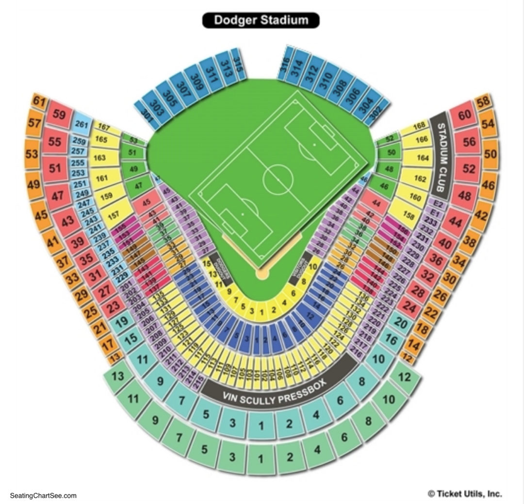 Dodger stadium seating chart seating charts tickets