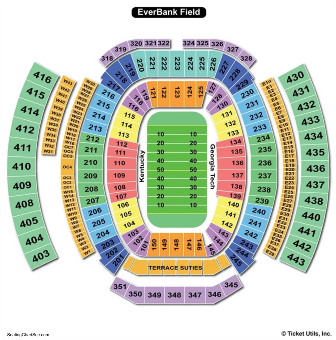 Everbank Field Seating Chart Seating Charts Amp Tickets