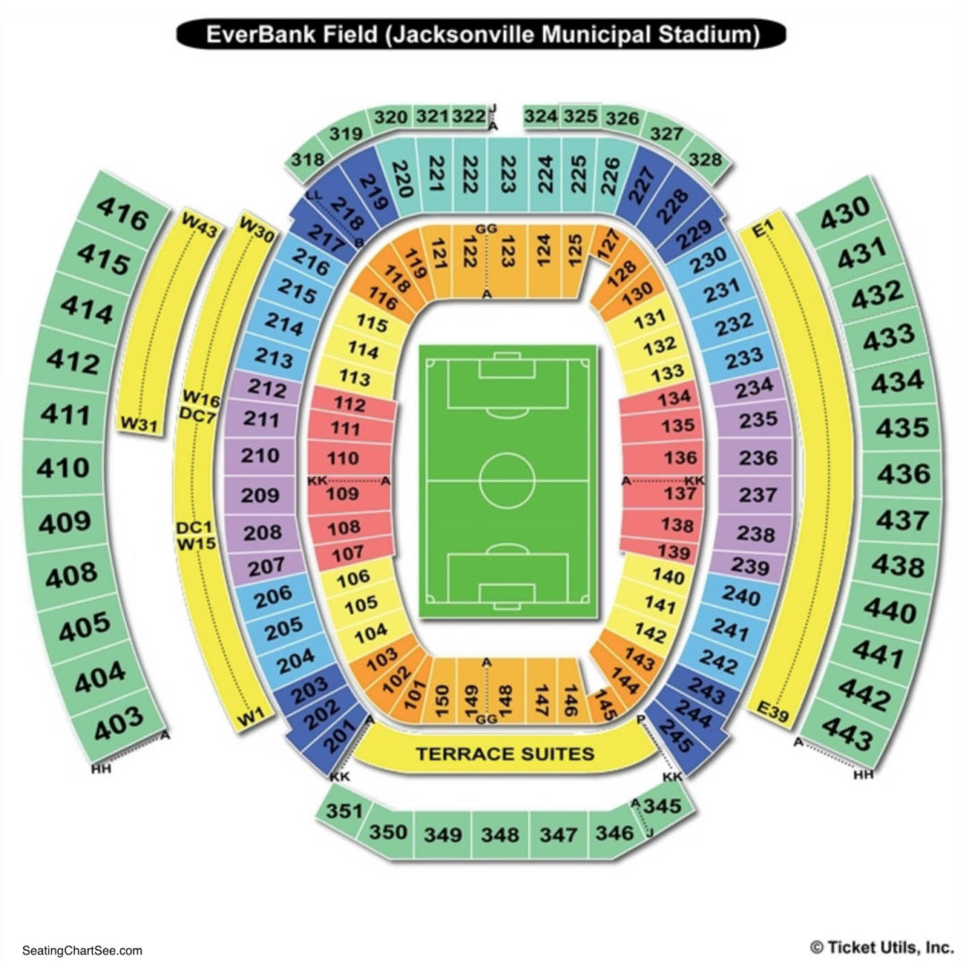 Everbank Field Seating Chart Seating Charts Tickets