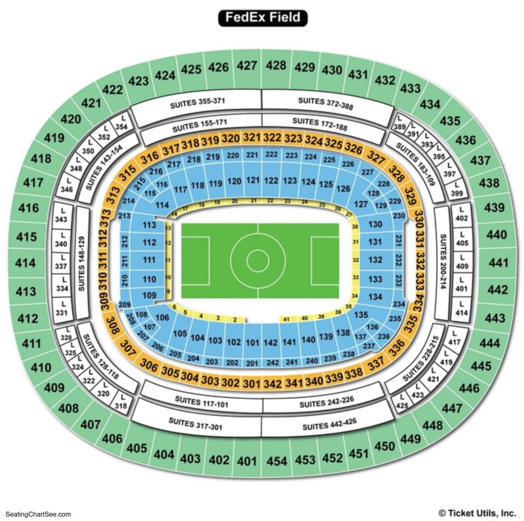Fedexfield Seating Chart Seating Charts Tickets