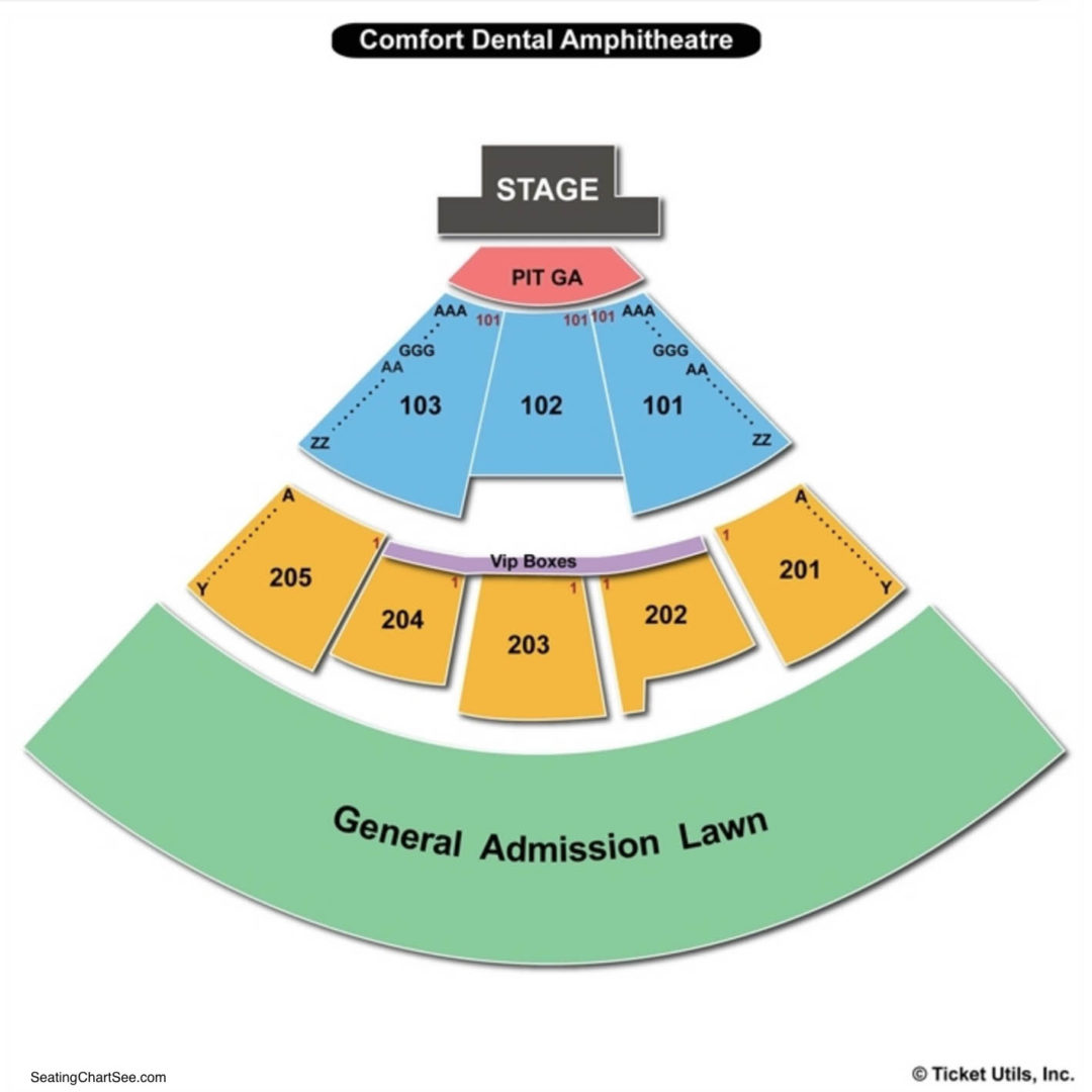 Fiddler s green amphitheatre seating chart seating charts tickets