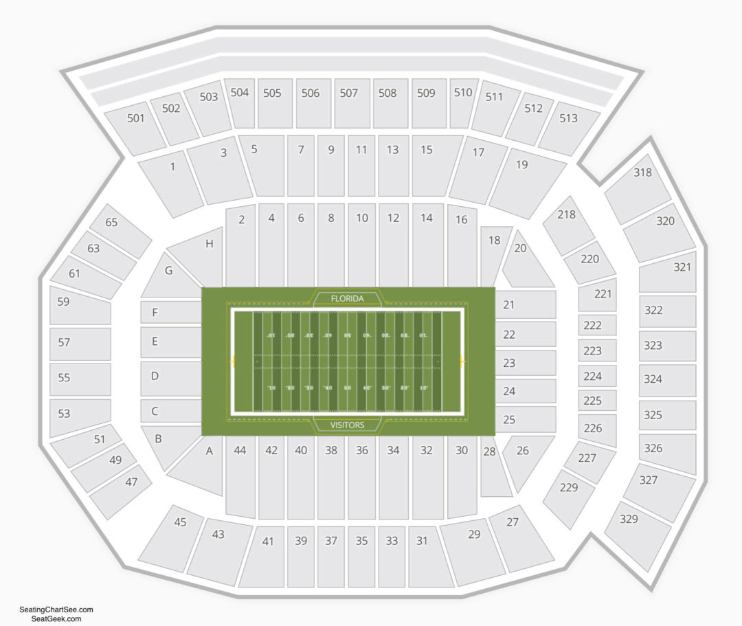 Ben Hill Griffin Stadium Seating Chart Seating Charts