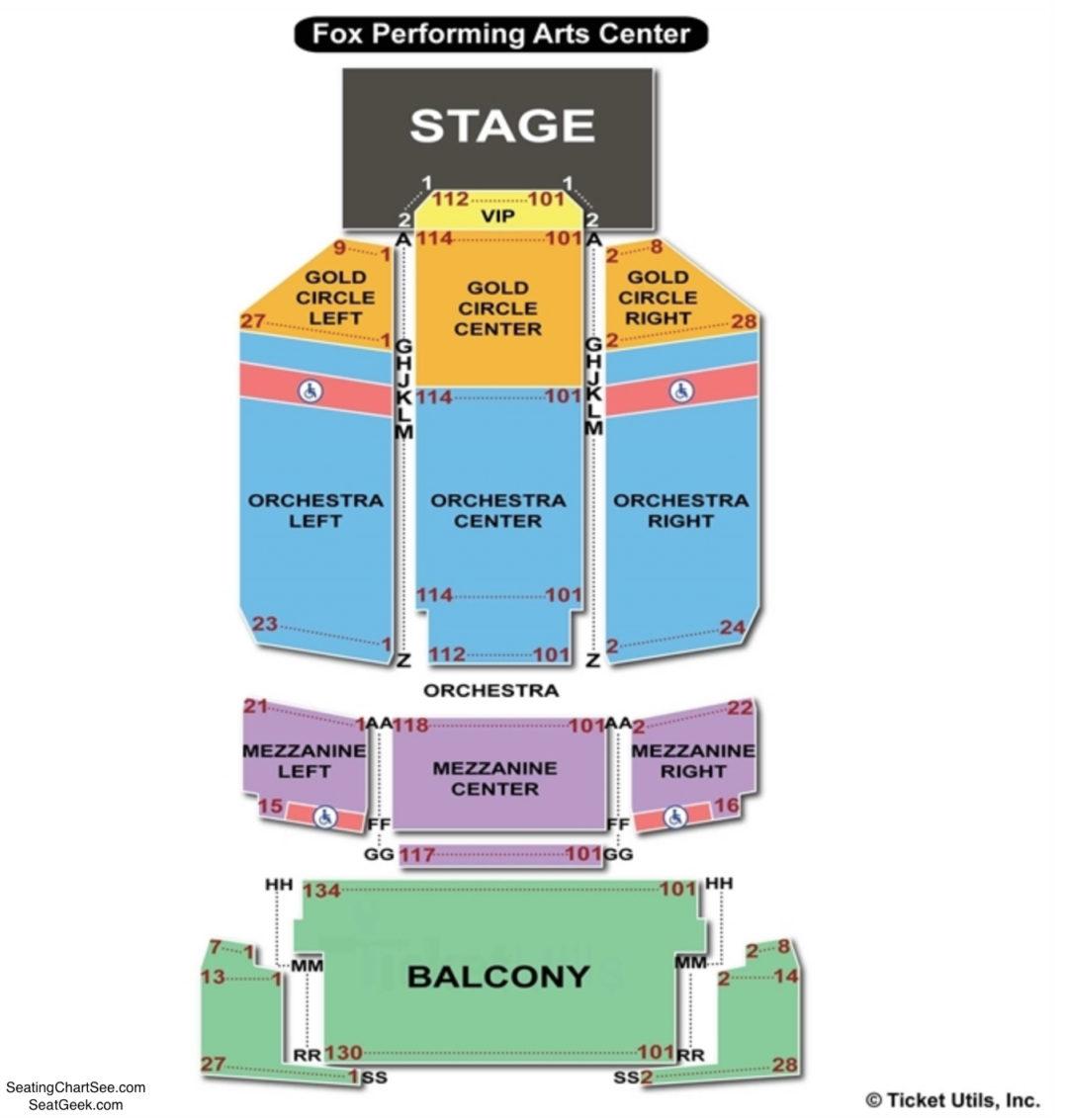 Fox Performing Arts Center Seating Chart Charts Tickets. Fox Performing Arts Center Seating Chart. Seat. Riverside Fox Theatre Seating Diagram At Scoala.co