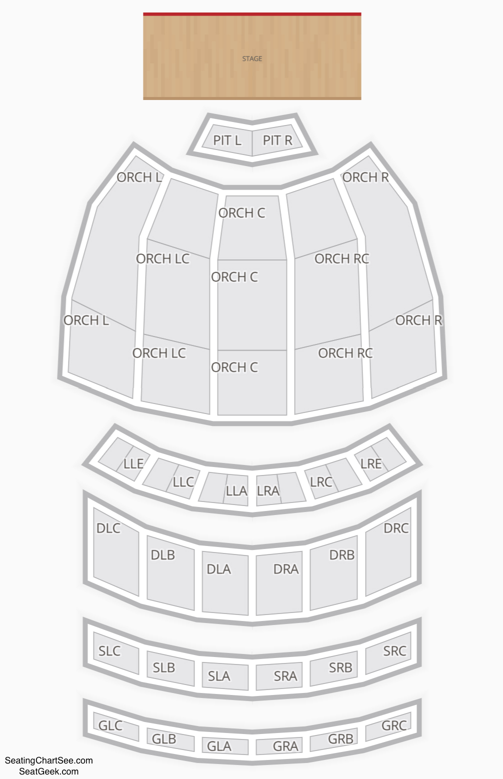 Fox theater atlanta seating chart seating charts tickets