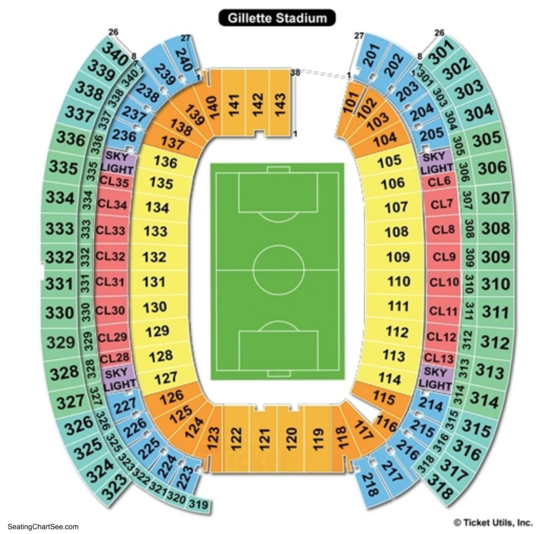 Gillette Stadium Seating Chart | Seating Charts & Tickets on m&t bank stadium map, alltel stadium map, peoria stadium map, patriot place map, fenway park map, cowboys stadium map, baseball stadium map, o.co coliseum map, assembly square map, pittsburgh pirates stadium map, yager stadium map, arizona stadium map, chargers stadium map, fiu stadium map, lockhart stadium map, papa john's cardinal stadium map, busch stadium map, orlando city stadium map, boston convention and exhibition center map, scott stadium map,