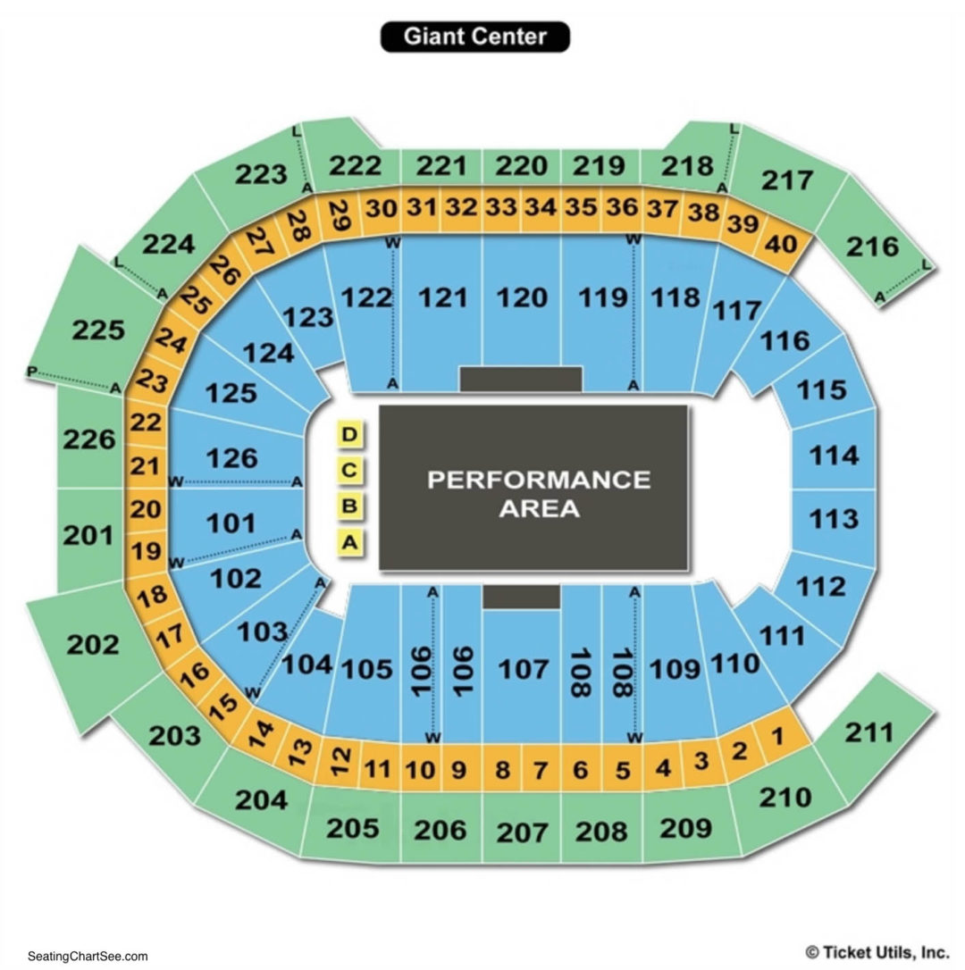 Giant Center Seating Chart Seating Charts Tickets