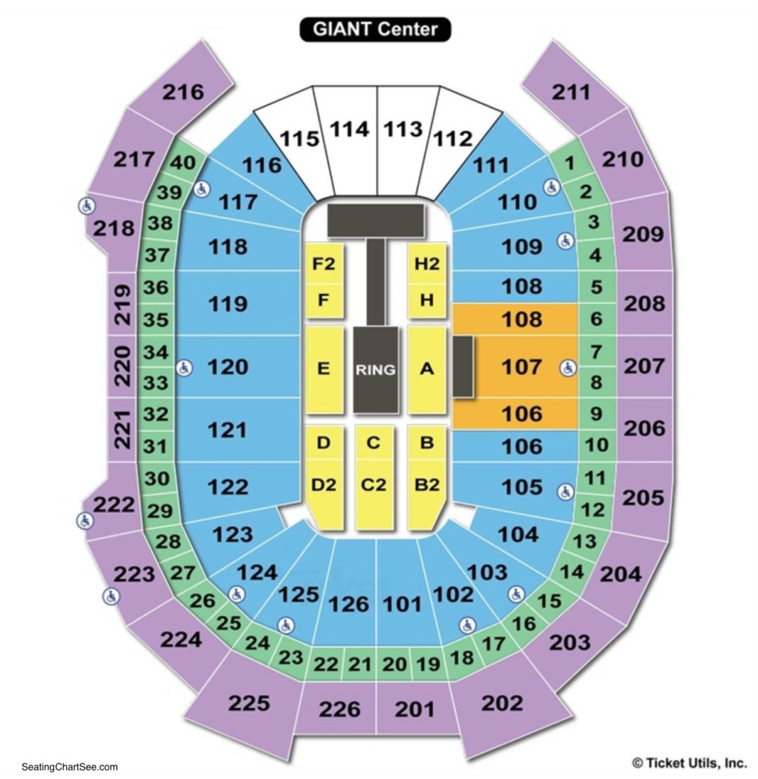 Giant Center Seating Chart