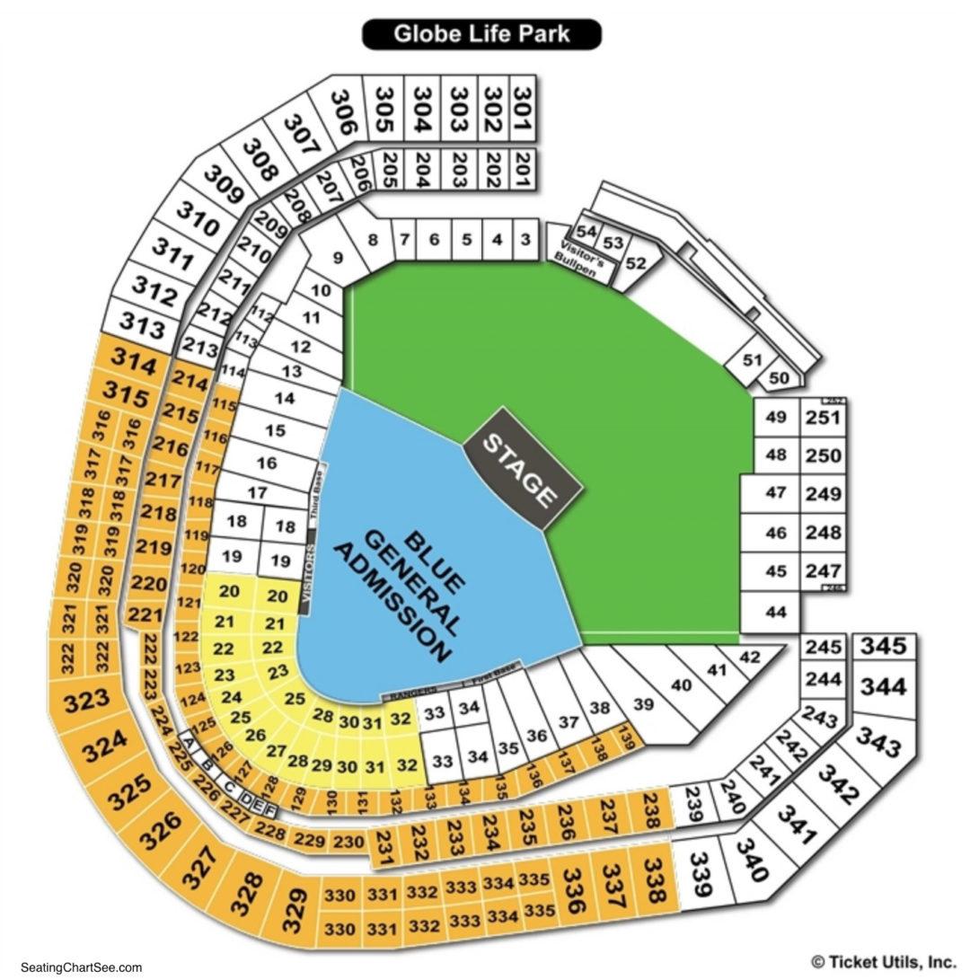 Globe Life Park Concert Seating Chart