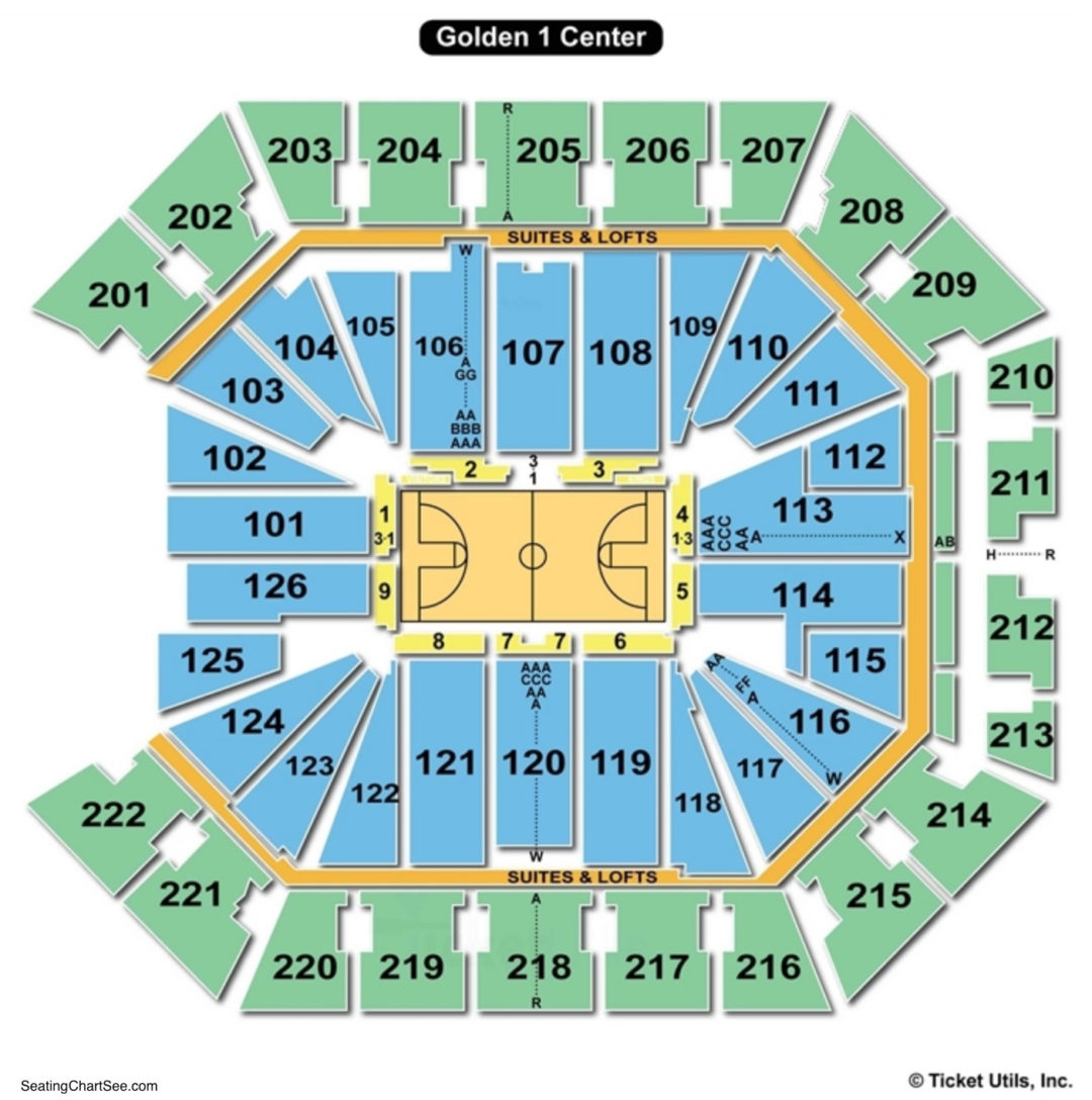 Golden 1 Center Basketball Seating Chart