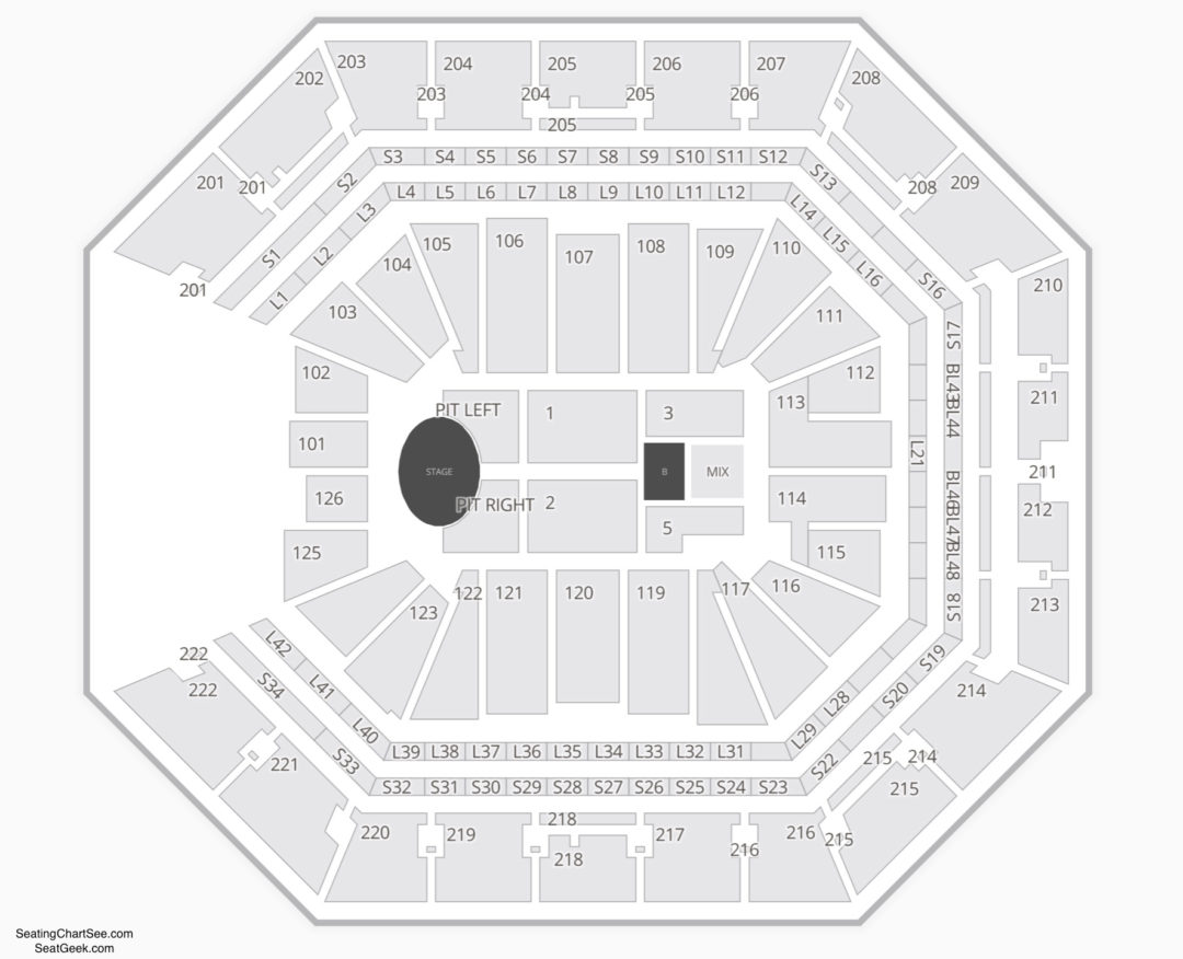 Golden 1 Center Concert Seating Chart