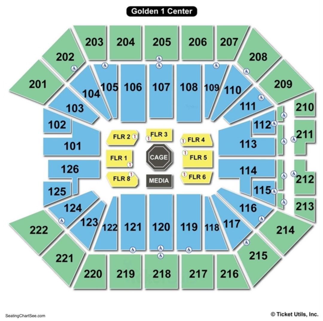 Golden 1 Center Ufc Seating Chart