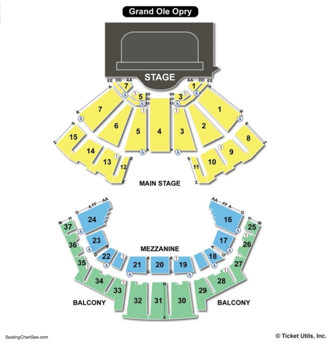 Grand Ole Opry House Seating Chart