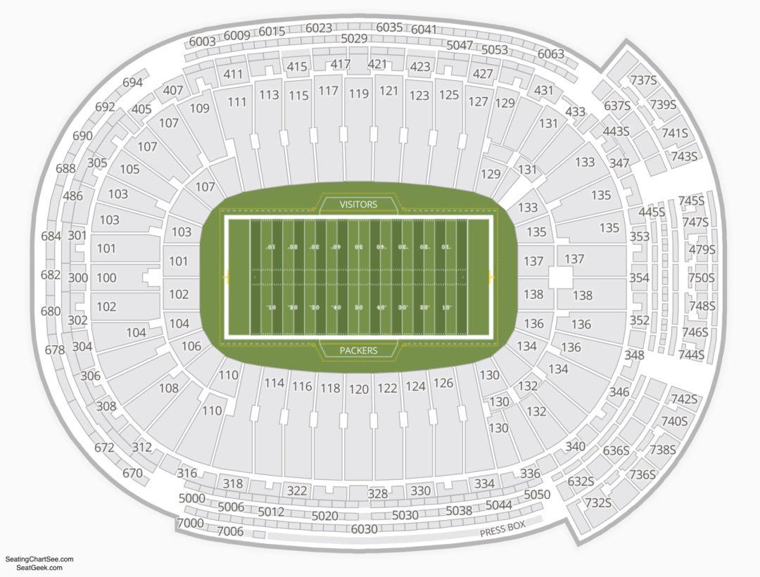 Lambeau Field Seating Chart   Seating Charts & Tickets