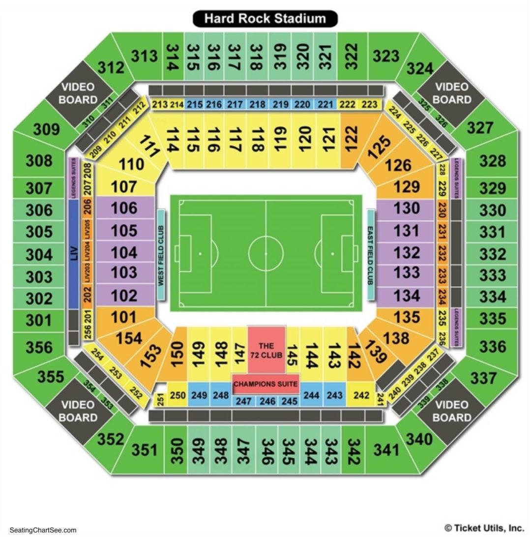 hard rock stadium seating chart   seating charts & tickets