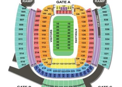 Heinz Field Seating Football Chart