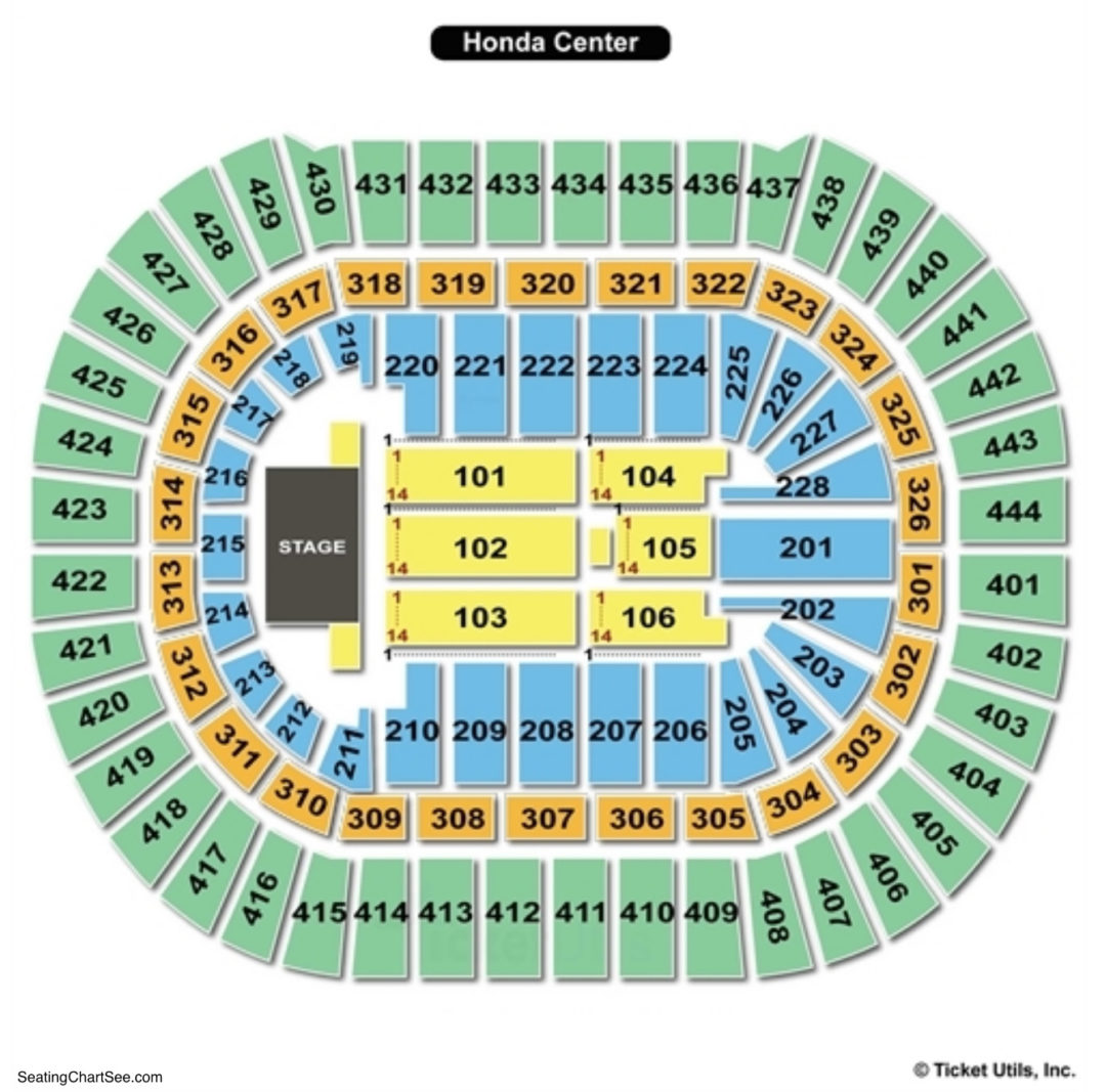 Superb Honda Center Seating Chart Concert