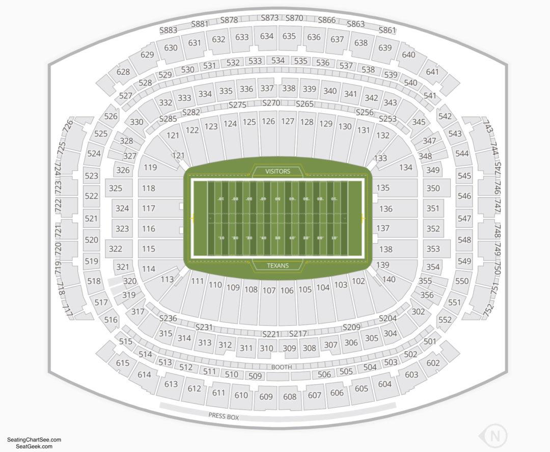 Nrg Stadium Seating Chart Seating Charts Amp Tickets
