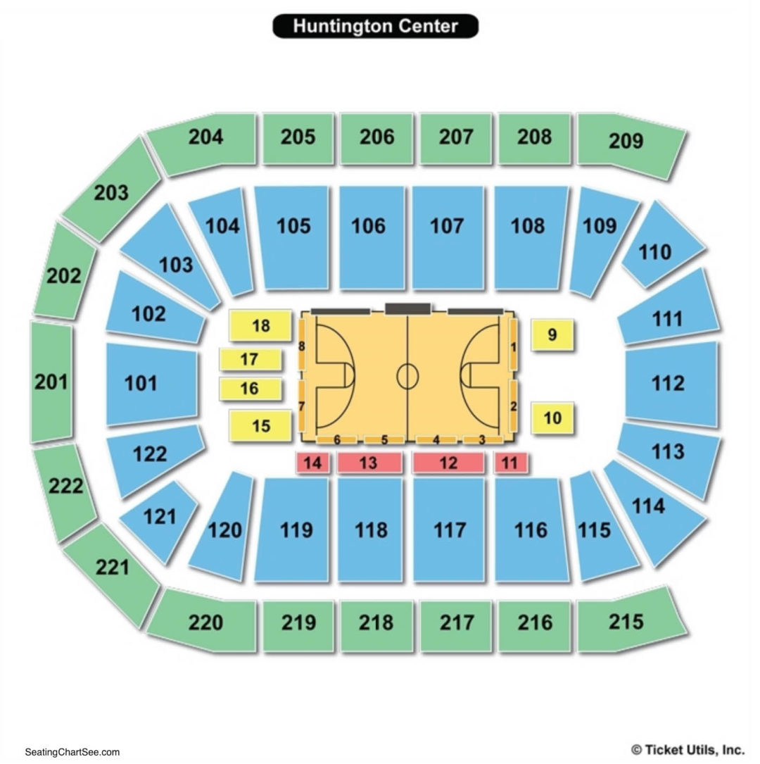 Huntington Center Seating Chart Seating Charts Tickets