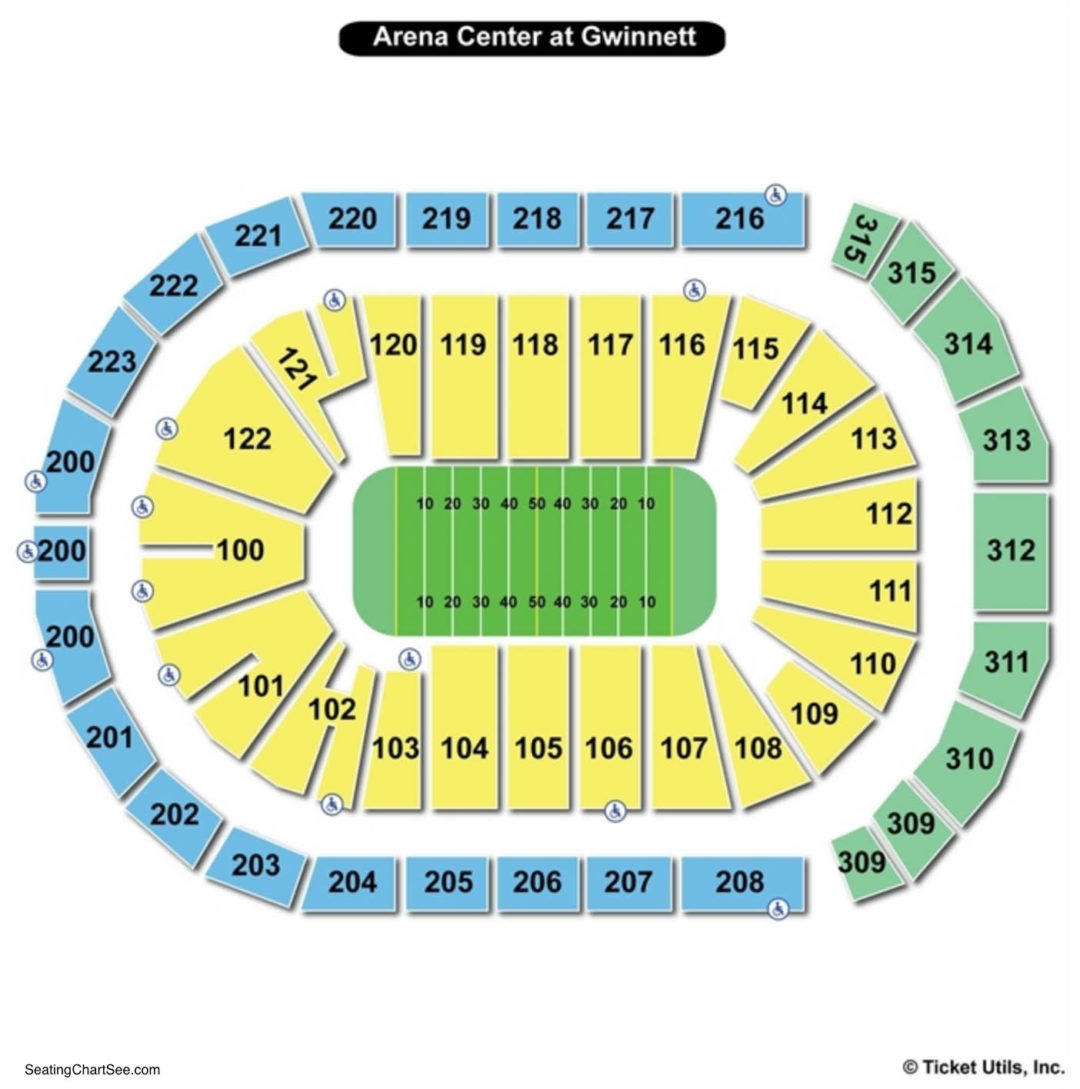 Infinite energy arena seating chart seating charts tickets