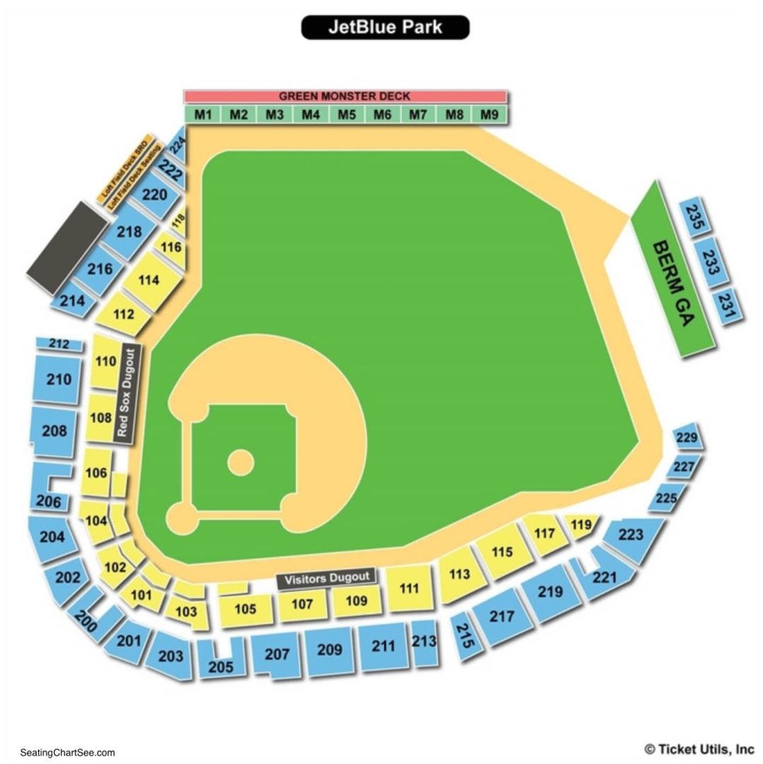 Jetblue Park Seating Chart