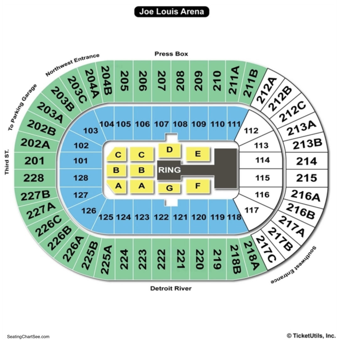 Joe louis arena seating chart seating charts tickets
