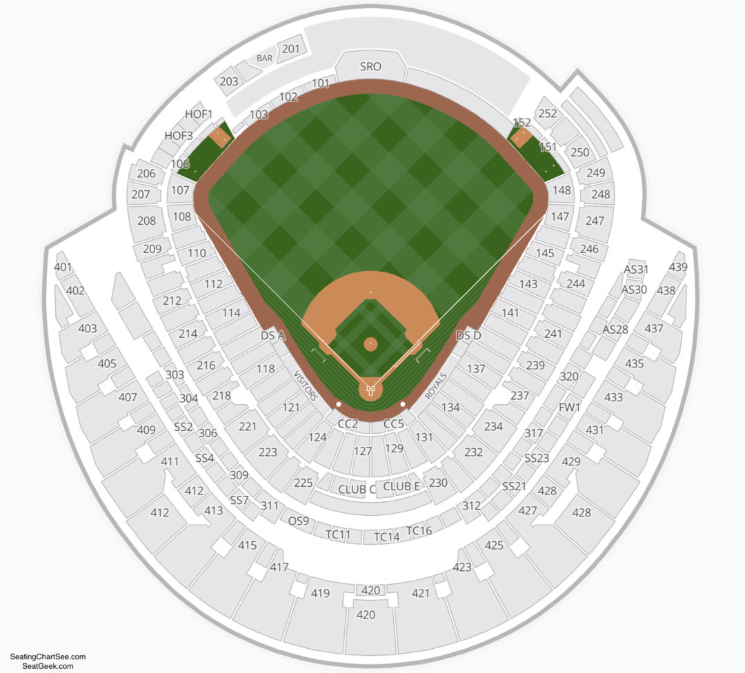 Kauffman Stadium Seating Chart | Seating Charts & Tickets on gila river arena map, spring mobile ballpark map, santa clara convention center map, royals seat map, starlight theatre map, u.s. cellular field map, o.co coliseum map, talking stick resort arena map, marlins ballpark map, pnc arena map, kauffman seating, truman sports complex map, dr pepper ballpark map, allen fieldhouse map, coors field map, kc royals seating map, braves field map, bramlage coliseum map, citizens bank park map, sports authority field at mile high map,
