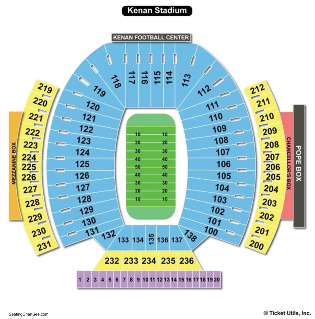 Kenan Memorial Stadium Seating Chart