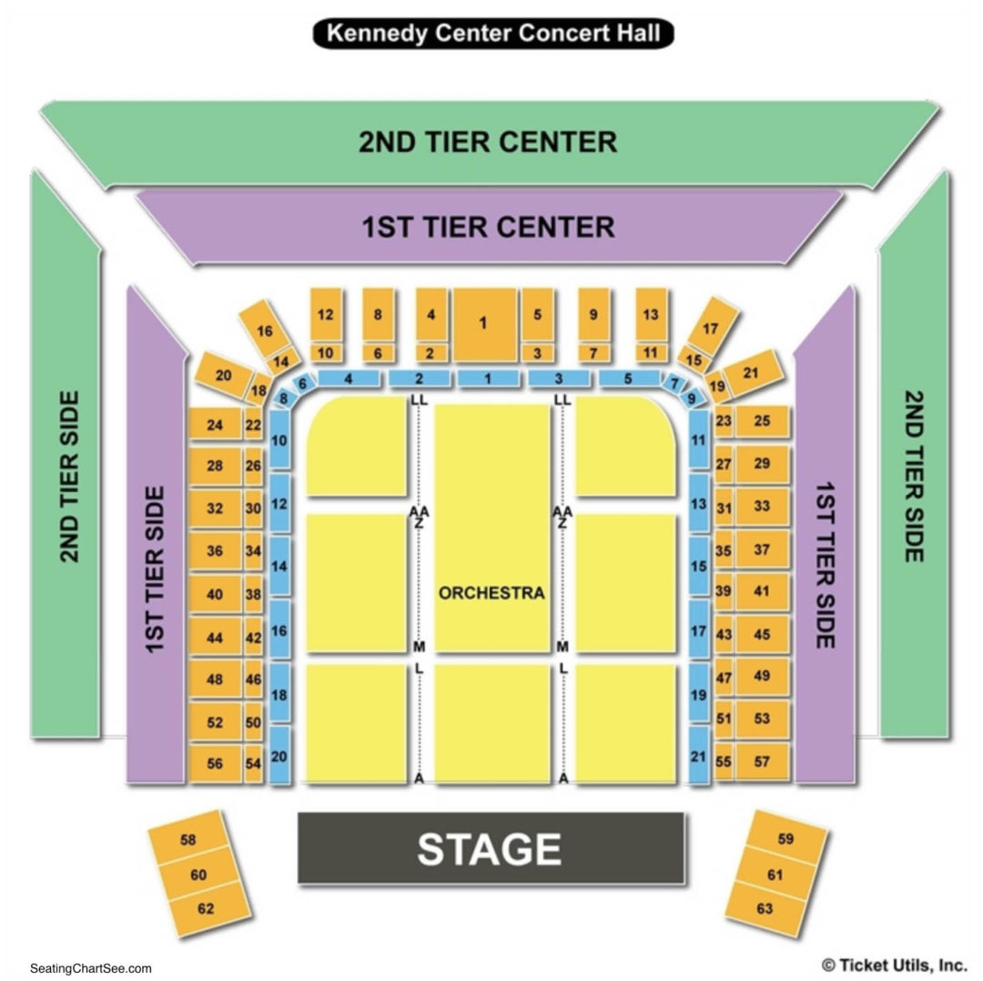 Kennedy center concert hall seating chart seating charts tickets