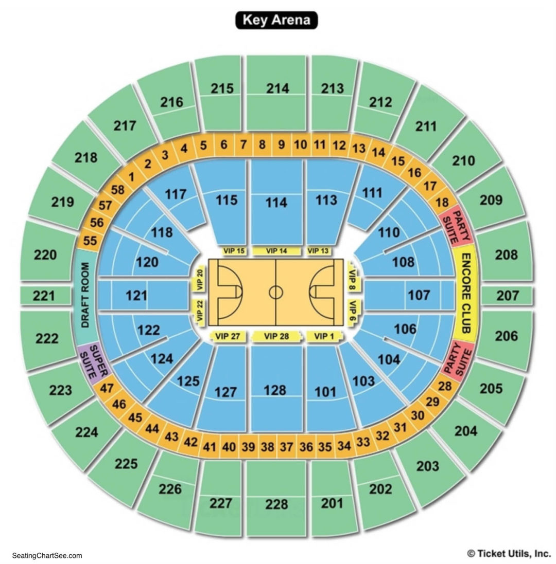 Key arena seating chart seating charts tickets
