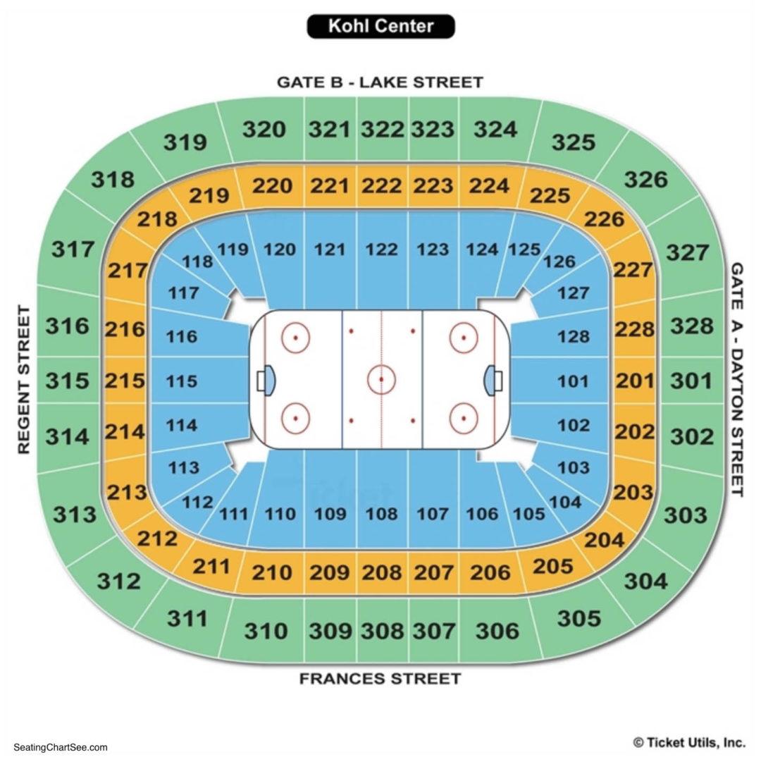 Kohl Center Hockey Seating Chart